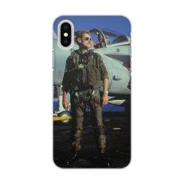 """Чехол для iPhone X/XS, объёмная печать """"Полет Нарушителя"""" - ретро, фильмы"""