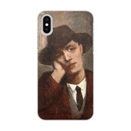 """Чехол для iPhone X/XS, объёмная печать """"Портрет Амедео Модильяни (кисти Жанны Эбютерн)"""" - картина, портрет, живопись, модильяни, эбютерн"""