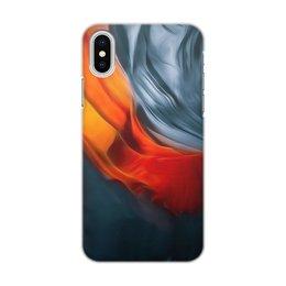 "Чехол для iPhone X/XS, объёмная печать ""Art three "" - цвета, синий, искусство, тренд"