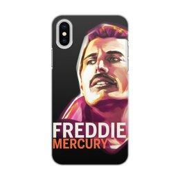 "Чехол для iPhone X/XS, объёмная печать ""Freddie Mercury"" - рок, queen, фредди меркьюри, freddie mercury, фредди меркури"