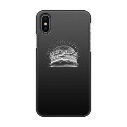 "Чехол для iPhone X/XS, объёмная печать ""Царь бургер"" - бургер"