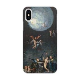 """Чехол для iPhone X, объёмная печать """"Блаженные и проклятые (Восхождение в эмпирей)"""" - картина, арт, живопись, босх"""