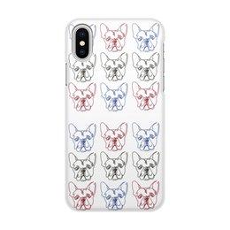 "Чехол для iPhone X/XS, объёмная печать ""Без названия"" - dog, собака, бульдог, bulldog, собака бульдог"