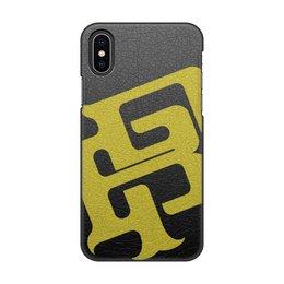 "Чехол для iPhone X/XS, объёмная печать ""Буквы BP"" - знак, символ, буквы, лого"