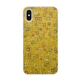 """Чехол для iPhone X/XS, объёмная печать """"Квадраты"""" - квадрат, яркий"""