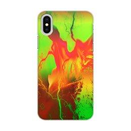 "Чехол для iPhone X/XS, объёмная печать ""Пятна краски"" - узор, космос, пятна, краски, абстракция"