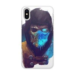 """Чехол для iPhone X/XS, объёмная печать """"Mortal Kombat"""" - скорпион, мортал комбат, scorpion, sub-zero, саб-зиро"""