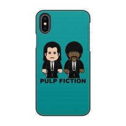 """Чехол для iPhone X/XS, объёмная печать """"Pulp Fiction"""" - тарантино, криминальное чтиво, джон траволта, сэмюэл лерой джексон, культовое кино"""