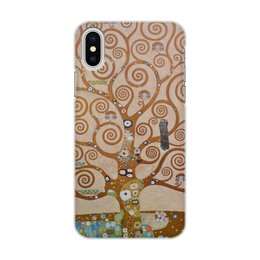 """Чехол для iPhone X/XS, объёмная печать """"Древо жизни (Густав Климт)"""" - картина, живопись, климт"""