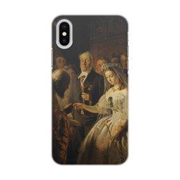 """Чехол для iPhone X, объёмная печать """"Неравный брак (картина Пукирева)"""" - живопись, пикурев, картина"""