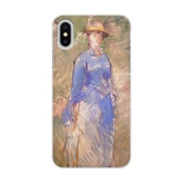 "Чехол для iPhone X, объёмная печать ""Молодая девушка в саду (Эдуард Мане)"" - арт, живопись, мане, картина"