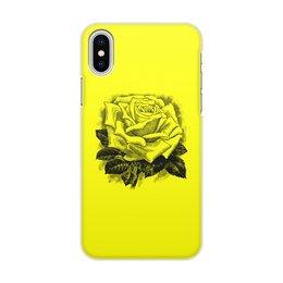 """Чехол для iPhone X/XS, объёмная печать """"Цветок"""" - цветы, роза, розы, букет, шипы"""