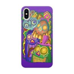 """Чехол для iPhone X/XS, объёмная печать """"Мексиканские черепа"""" - череп, граффити, веселье, sculls, мексика"""