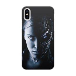 """Чехол для iPhone X, объёмная печать """"Терминатор Т-Х"""" - терминатор, terminator"""