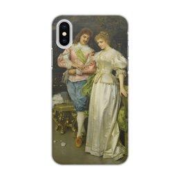 """Чехол для iPhone X, объёмная печать """"Обрученные (Федерико Андреотти)"""" - андреотти, живопись, картина"""