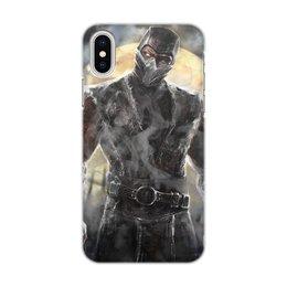"""Чехол для iPhone X/XS, объёмная печать """"Smoke"""" - mortal kombat, смертельная битва, мортал комбат, смоук, смок"""