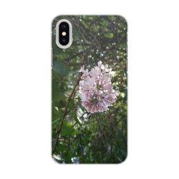 """Чехол для iPhone X/XS, объёмная печать """"Сирень"""" - лето, зелень, тепло, сирень, lilac"""