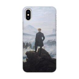 """Чехол для iPhone X/XS, объёмная печать """"Странник над морем тумана"""" - картина, фридрих"""