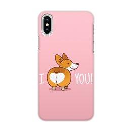 """Чехол для iPhone X/XS, объёмная печать """"Порода Корги"""" - животные, собака, фотография, корги"""