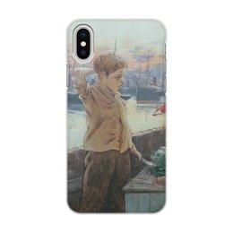 """Чехол для iPhone X/XS, объёмная печать """"Юнга (Адольфо Гуйард)"""" - картина, живопись, гуйард"""