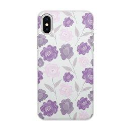 """Чехол для iPhone X/XS, объёмная печать """"цветы"""" - лето, цветы, узор, природа, цветочки"""