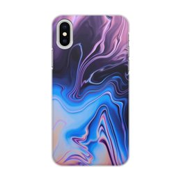 "Чехол для iPhone X/XS, объёмная печать ""Art Streaks nine"" - цвета, краски, искусство, тренд"
