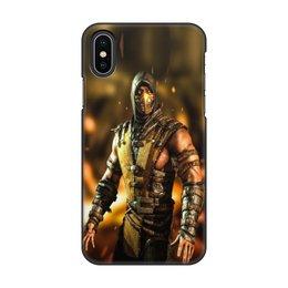 "Чехол для iPhone X, объёмная печать ""Mortal Kombat (Scorpion)"" - scorpion, mortal kombat, скорпион, боец, воин"