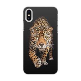 """Чехол для iPhone X/XS, объёмная печать """"ЛЕОПАРД.  ЖИВАЯ ПРИРОДА"""" - хищник, животные, стиль эксклюзив креатив красота яркость, арт фэнтези"""