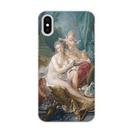 """Чехол для iPhone X, объёмная печать """"Туалет Венеры"""" - франсуа буше, живопись, афродита, мифология, картина"""