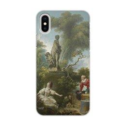 "Чехол для iPhone X/XS, объёмная печать ""Встреча (Жан Оноре Фрагонар)"" - картина, живопись, фрагонар"
