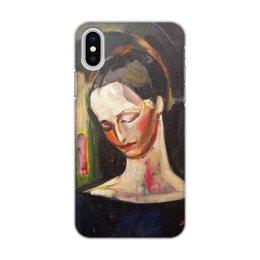 """Чехол для iPhone X/XS, объёмная печать """"Женский портрет (картина Ильи Машкова)"""" - картина, портрет, живопись, машков"""