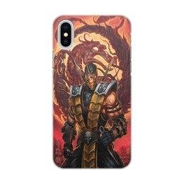 """Чехол для iPhone X/XS, объёмная печать """"Mortal Kombat. """" - игра, кино, чехол, ччехол для телефона"""