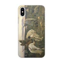 """Чехол для iPhone X/XS, объёмная печать """"Витязь на распутье (Виктор Васнецов)"""" - картина, сказка, живопись, васнецов, богатыри"""