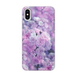 """Чехол для iPhone X/XS, объёмная печать """"Цветы"""" - цветы"""