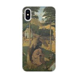 """Чехол для iPhone X, объёмная печать """"Искушение святого Антония (картина Босха)"""" - босх, живопись, картина"""