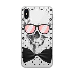 """Чехол для iPhone X/XS, объёмная печать """"Череп"""" - череп, черепушка"""