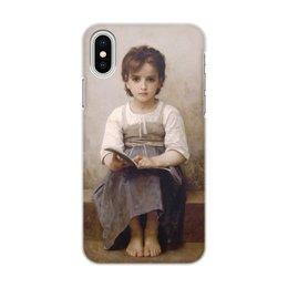 """Чехол для iPhone X/XS, объёмная печать """"Трудный урок (картина Вильяма Бугро)"""" - картина, академизм, живопись, школа, бугро"""