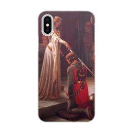 "Чехол для iPhone X/XS, объёмная печать ""Акколада (Эдмунд Лейтон)"" - картина, живопись, рыцари, прерафаэлиты, лейтон"