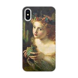"Чехол для iPhone X/XS, объёмная печать ""Take the Fair Face of Woman"" - картина, фэнтези, софи андерсон"