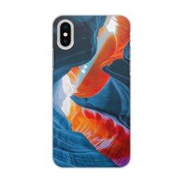 """Чехол для iPhone X/XS, объёмная печать """"Art blue one"""" - цвета, синий, искусство, тренд"""