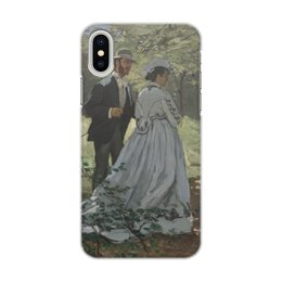 "Чехол для iPhone X/XS, объёмная печать ""Базиль и Камилла (Клод Моне)"" - картина, живопись, моне"
