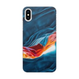 "Чехол для iPhone X/XS, объёмная печать ""Art blue three"" - цвета, синий, искусство, тренд"