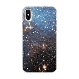 """Чехол для iPhone X/XS, объёмная печать """"Космос"""" - космос"""