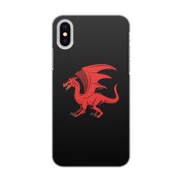 """Чехол для iPhone X/XS, объёмная печать """"дракон"""" - крылья, животные, дракон, dragon, динозавр"""