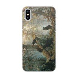 """Чехол для iPhone X/XS, объёмная печать """"Утро в сосновом лесу (Иван Шишкин)"""" - картина, живопись, шишкин"""
