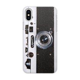 """Чехол для iPhone X/XS, объёмная печать """"Дизайн Фотоаппарат Зоркий 5"""" - чехол iphone, чехол фотоаппарат, чехол samsung, чехол телефон, чехол самсунг"""