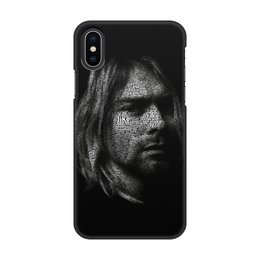 "Чехол для iPhone X/XS, объёмная печать ""Курт Кобейн"" - музыка, nirvana, рок, курт кобейн"