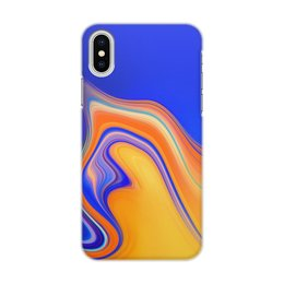 "Чехол для iPhone X/XS, объёмная печать ""Art Streaks five"" - цвета, краски, искусство, тренд"