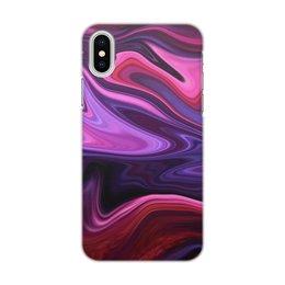 "Чехол для iPhone X/XS, объёмная печать ""Art Streaks eight"" - цвета, краски, искусство, тренд"