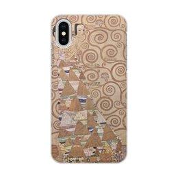 """Чехол для iPhone X, объёмная печать """"Ожидание (Густав Климт)"""" - климт, живопись, картина"""